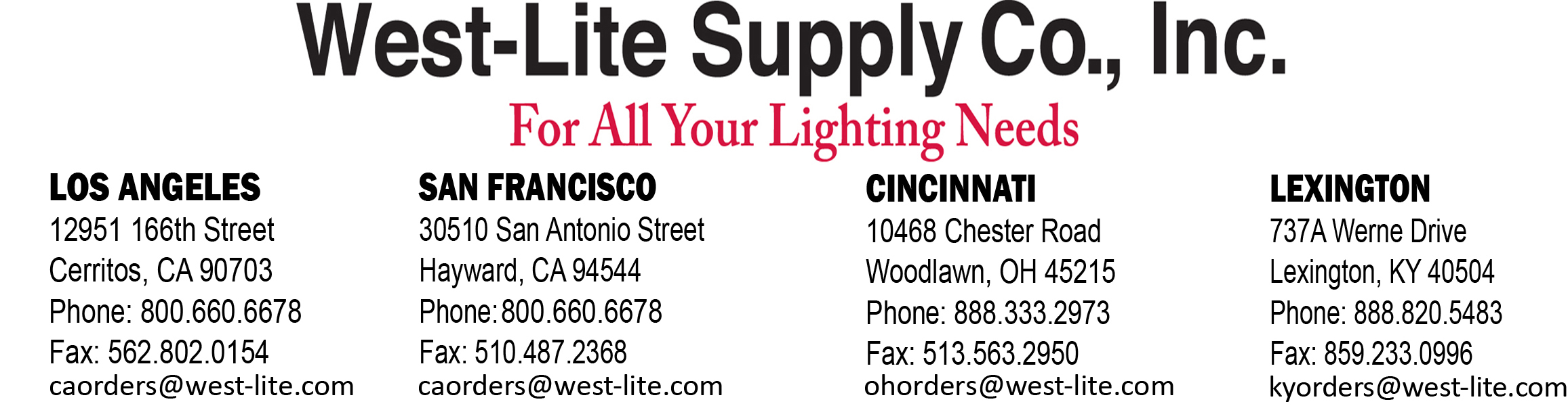 West Lite Supply Company Inc